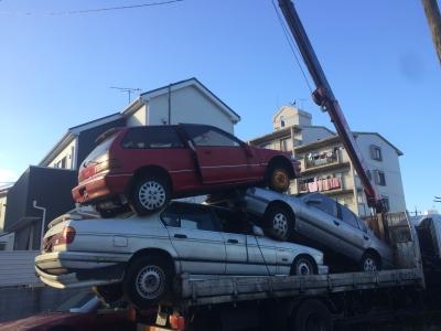 廃車積込み